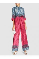 Tarot Silk-Twill Wide-Leg Trousers