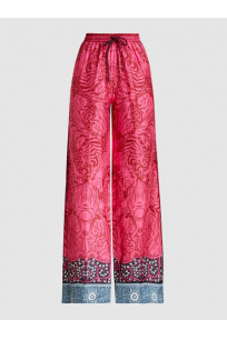 Tarot Silk-Twill Wide-Leg Trousers
