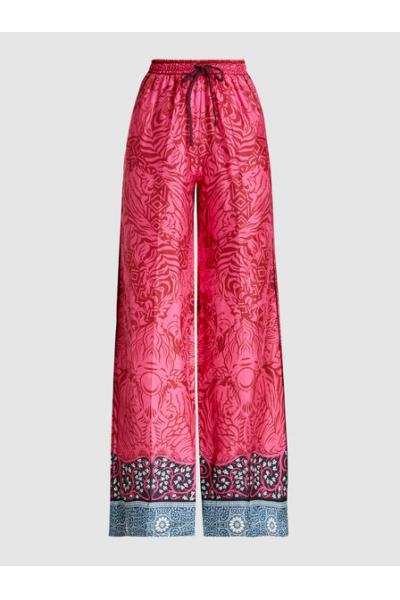 THE MODIST Tarot Silk-Twill Wide-Leg Trousers
