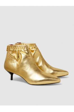 THE MODIST Blitz Metallic Leather Ankle Boots