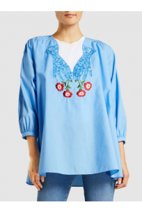Corriere Embroidered Cotton Blouse