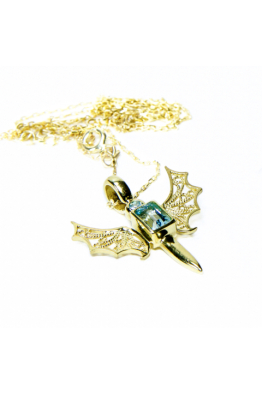 Luft Jewellery Bold Devolo Telkari Kolye - Atlın Kaplama