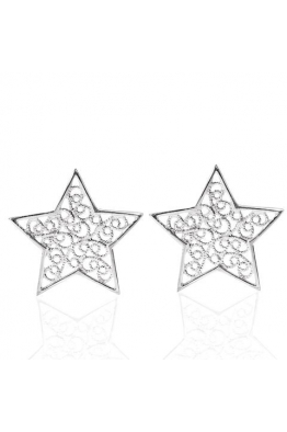 Luft Jewellery Star Pimli Telkari Küpe - Gümüş