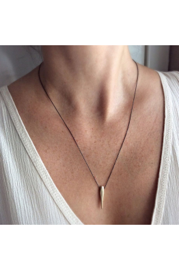 Lucida Jewelry Bronz Uçlu Gümüş Kolye - M3