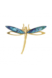 Yusufçuk Broş Altın Kaplama