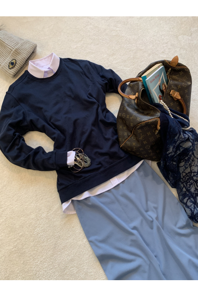 Sıfır Yaka Basic Sweatshirt