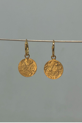 Tuba Atman Pul Serisi / Küçük Boy Küpe / Gold