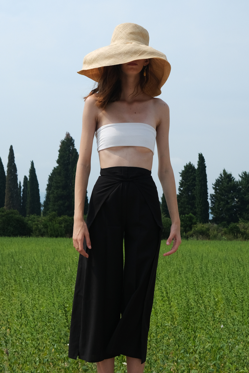 BLACK COTTON THAI PANTS