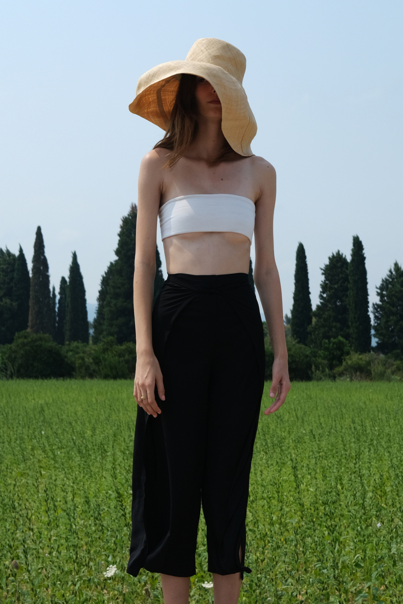 BLACK SILKY THAI PANTS