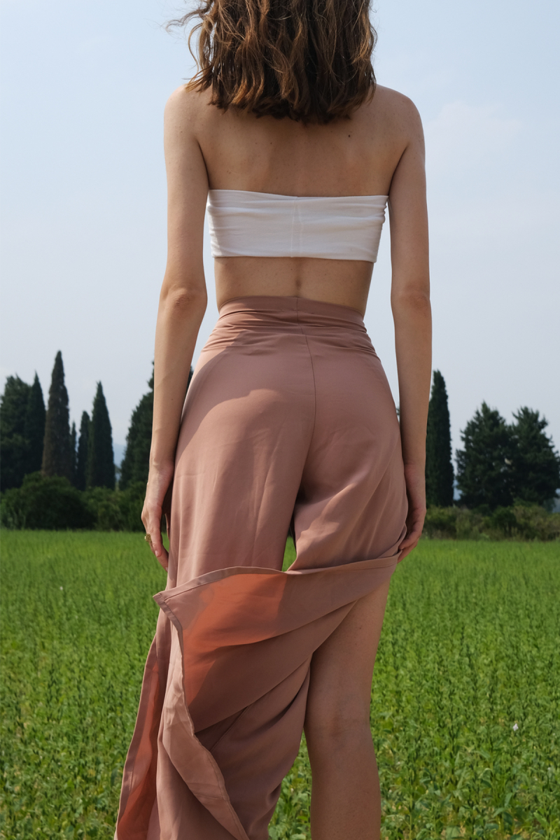 NUDE SILKY THAI PANTS