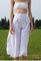 WHITE COTTON THAI PANTS