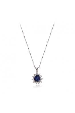 Blue Diamond Safir Pırlanta Kolye