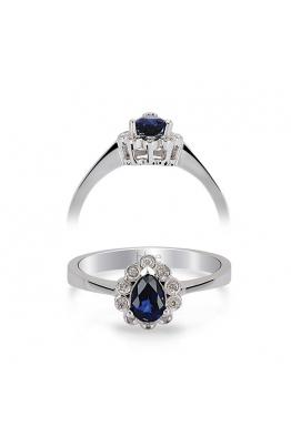 Blue Diamond Safir Pırlanta Yüzük