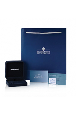 Blue Diamond 0,30 Karat Tek Taş Pırlanta Kolye