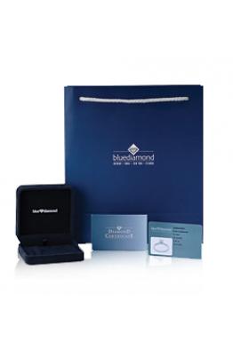 Blue Diamond 0,30 Karat Tek Taş Pırlanta Küpe