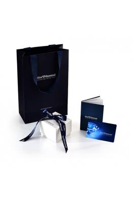 Blue Diamond 1,00 Karat Görünümlü Beştaş Pırlanta Yüzük
