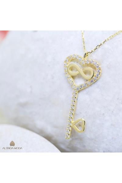 Altın Sonsuzluk Anahtarı Kolye  Altın Sonsuzluk Anahtarı Kolye