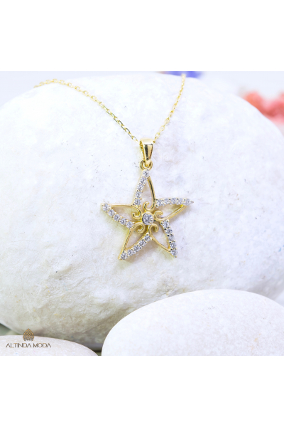 Altın Yıldız Kolye Altın Yıldız Kolye