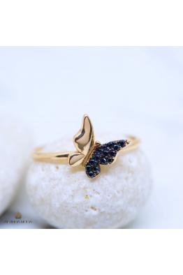 Altında Moda Rose Altın Kelebek Yüzük